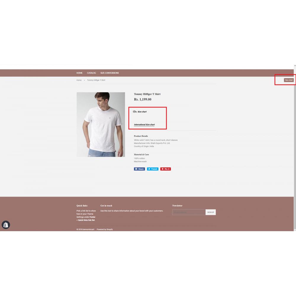 module - Zusatzinformationen & Produkt-Tabs - Product Size Chart - Ultimate - 5