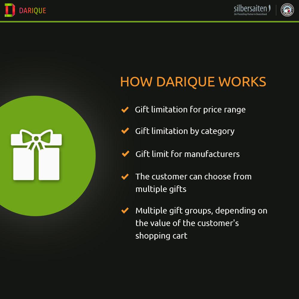 module - Promociones y Regalos - Darique - Productos de Regalo en Pedido - 1