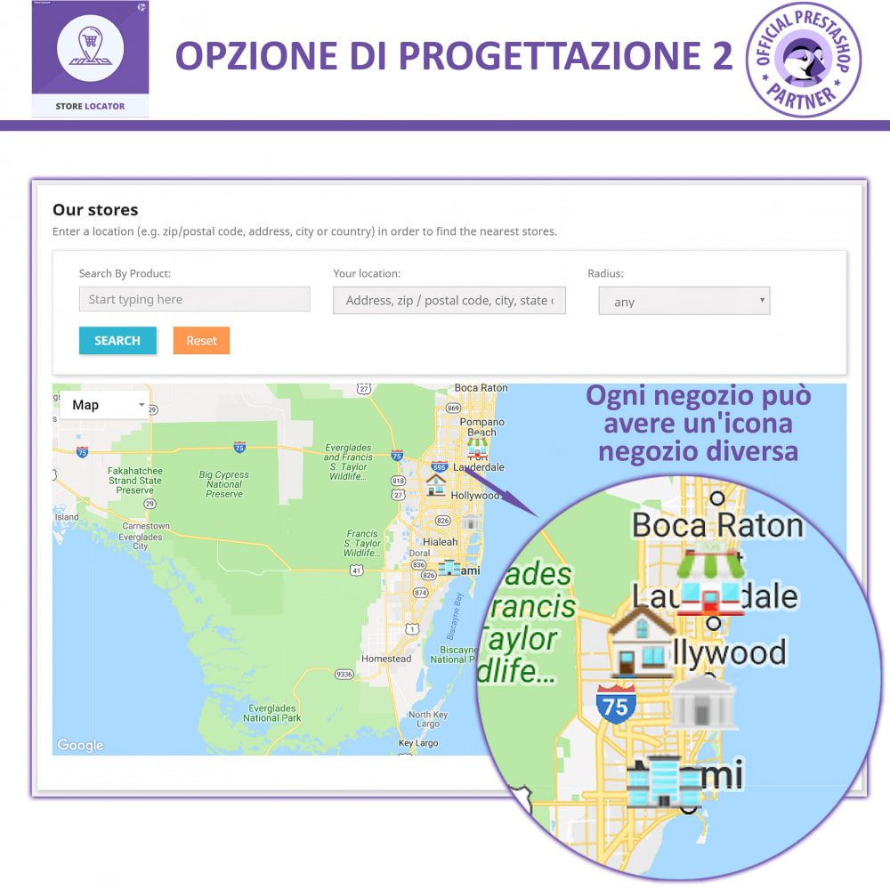 module - Lingue & Traduzioni - Localizzatore Store con Google Maps - 3