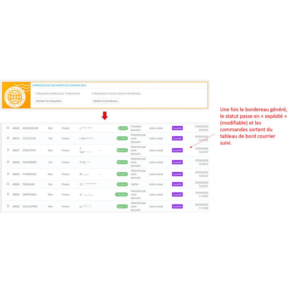module - Etiquettes & Logos - Étiquetage courrier suivi, port payé - 5