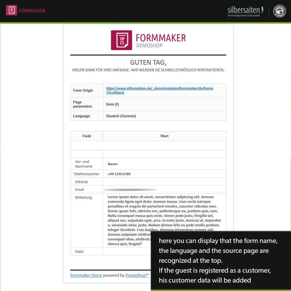 module - Formulário de contato & Pesquisas - Form Maker - formulários personalizados e de produtos - 12