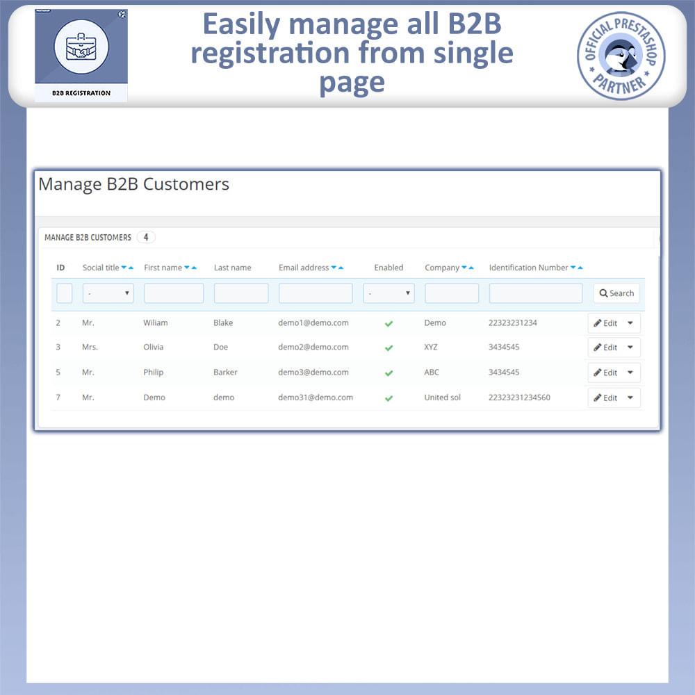 module - Registration & Ordering Process - B2B Registration | Advance B2B Registration - 8