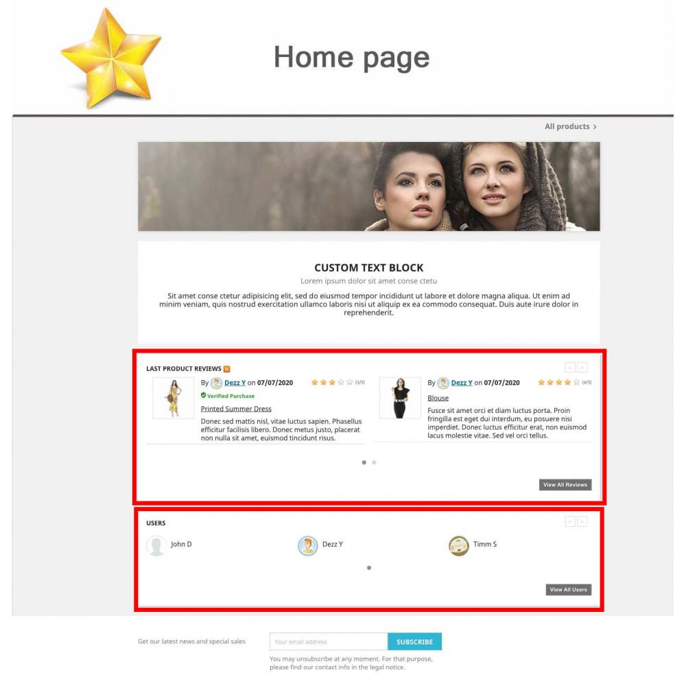 module - Widgets réseaux sociaux - Produit Avis + Programmes fidélité + Profil utilisateur - 8