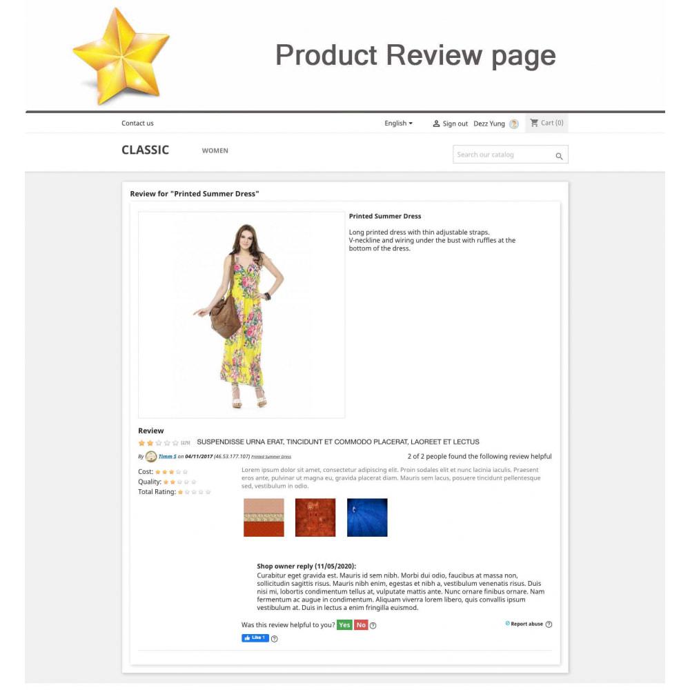 module - Widgets réseaux sociaux - Produit Avis + Programmes fidélité + Profil utilisateur - 10