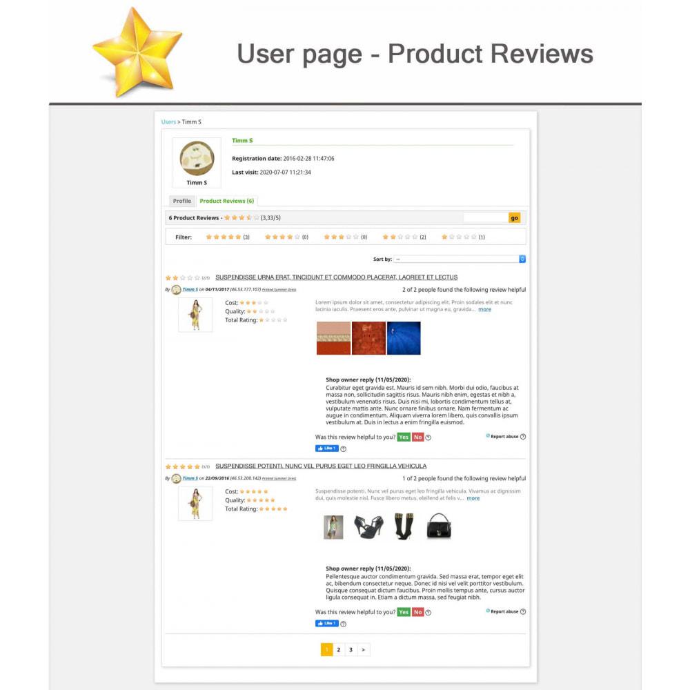 module - Widgets réseaux sociaux - Produit Avis + Programmes fidélité + Profil utilisateur - 13