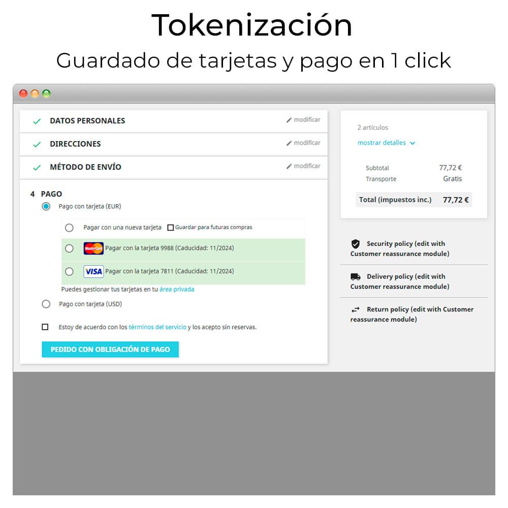 module - Pagamento con Carta di Credito o Wallet - Card payment Virtual POS CECA gateway,refunds (& Bizum) - 7