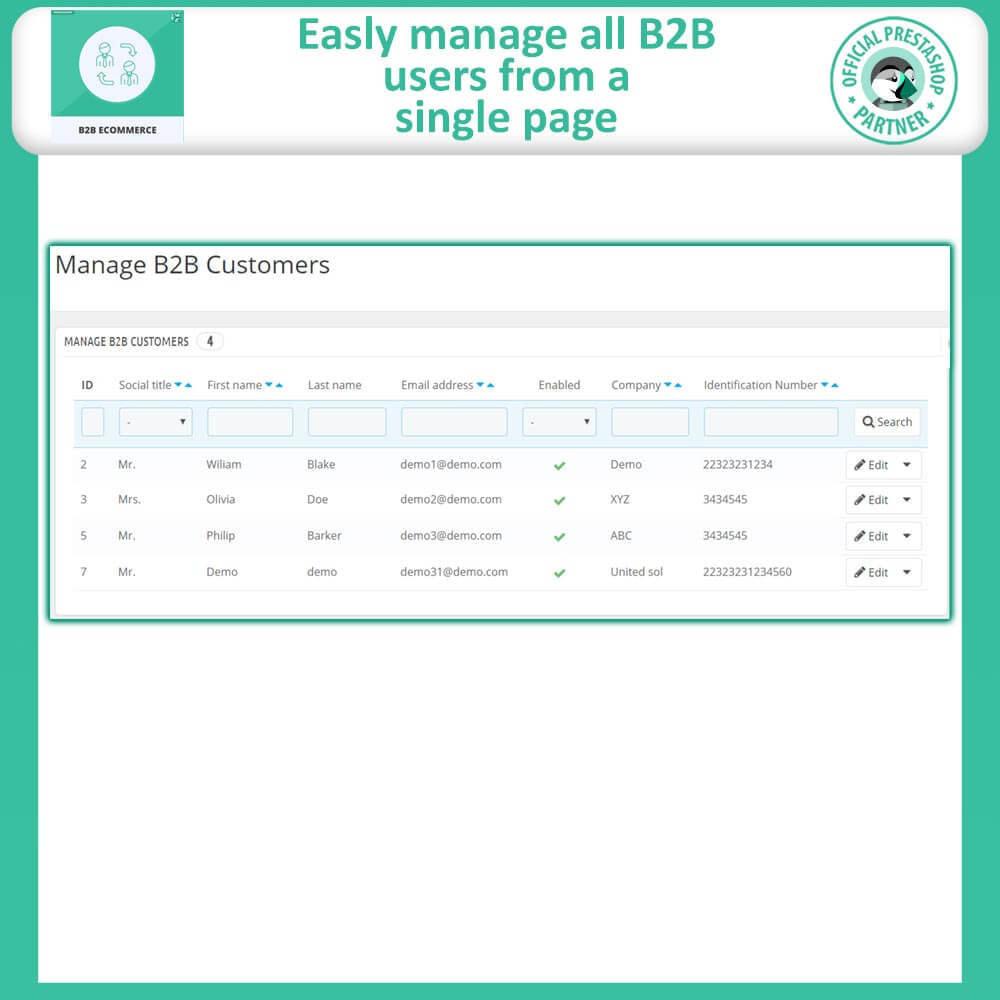 module - B2B - B2B E Commerce - 9