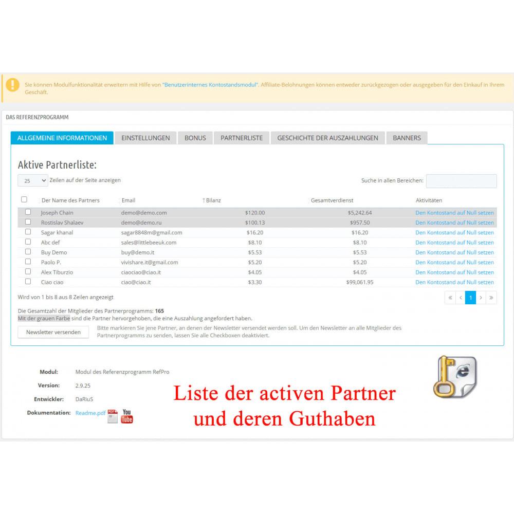 module - SEA SEM (Bezahlte Werbung) & Affiliate Plattformen - Das erweiterte Referenzprogramm RefPRO - 2