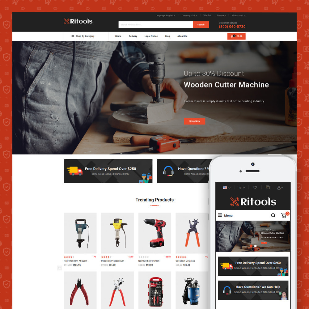 theme - Samochody - Tools - Online Store - 2