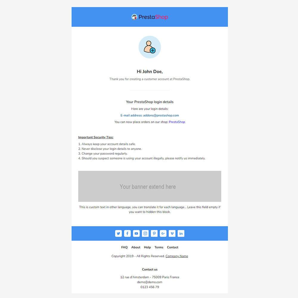email - Plantillas de correos electrónicos PrestaShop - Ncov - Template emails and for emails of module - 3