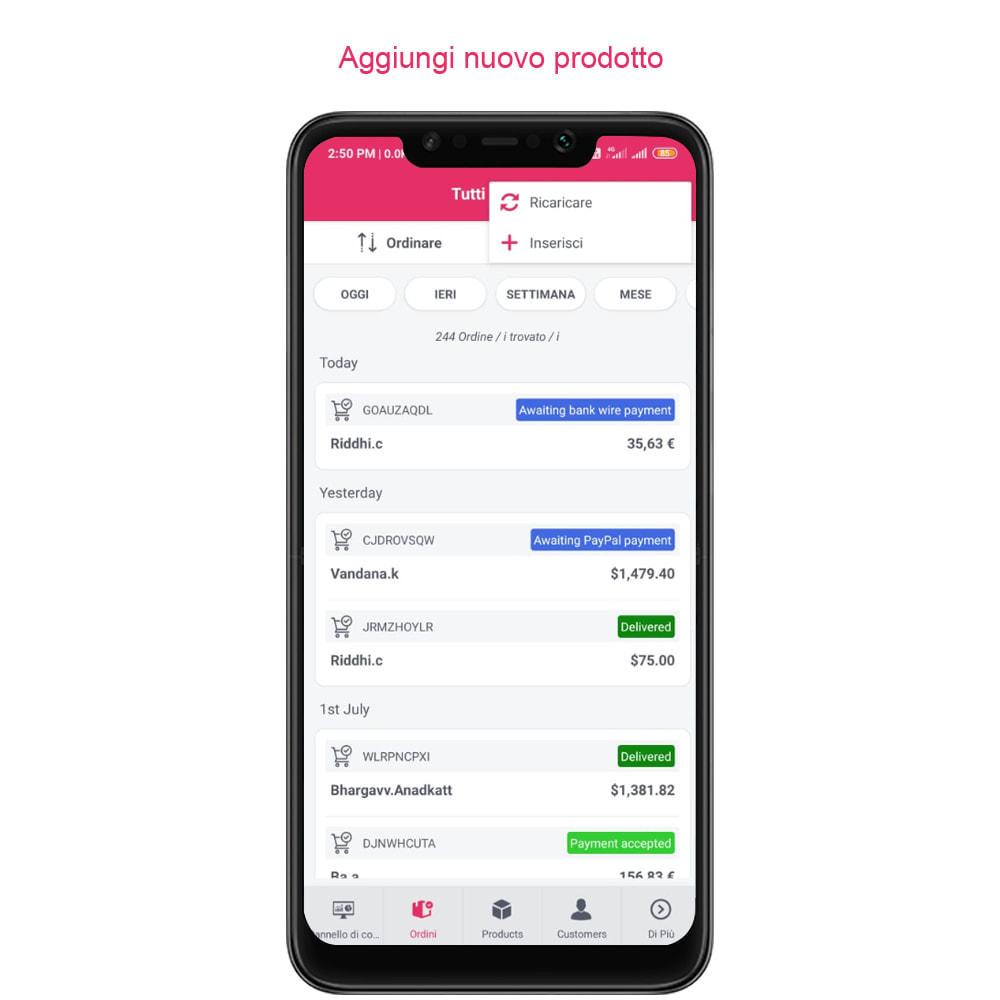 module - Dispositivi mobili - FE Presta Admin App - facile per gestire store admin - 22