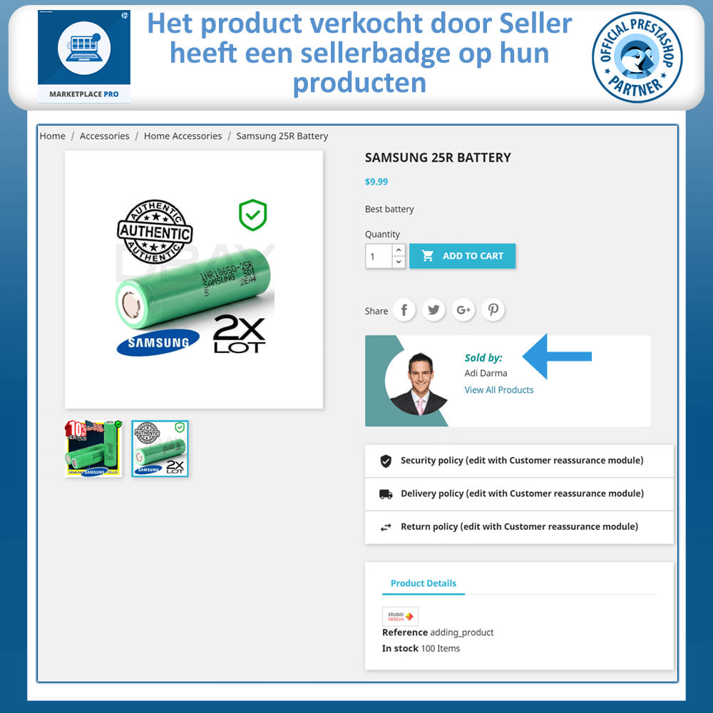 module - Marktplaats opzetten - Multi Vendor Marketplace  - Marketplace Pro - 5