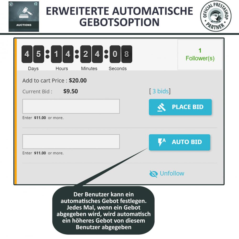 module - Auktionsseiten - Auktion Pro, Online-Auktions und Gebotsmanagement - 7