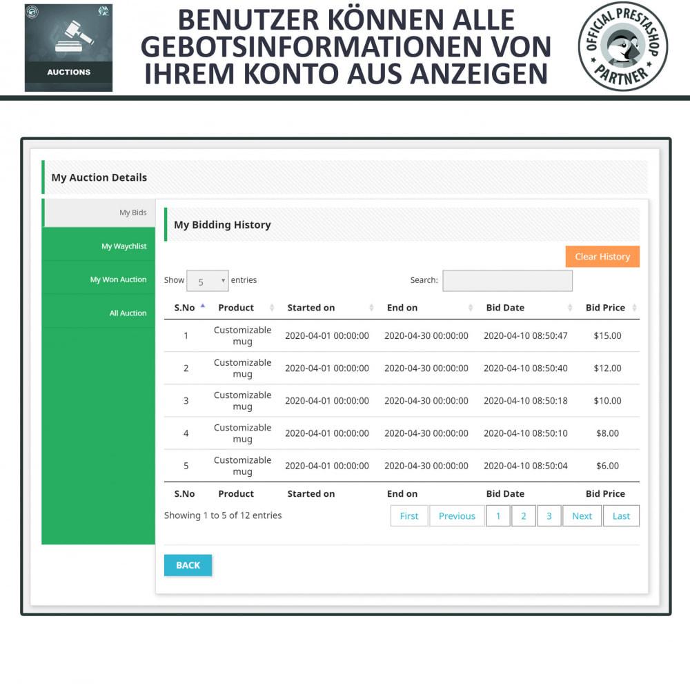 module - Auktionsseiten - Auktion Pro, Online-Auktions und Gebotsmanagement - 20