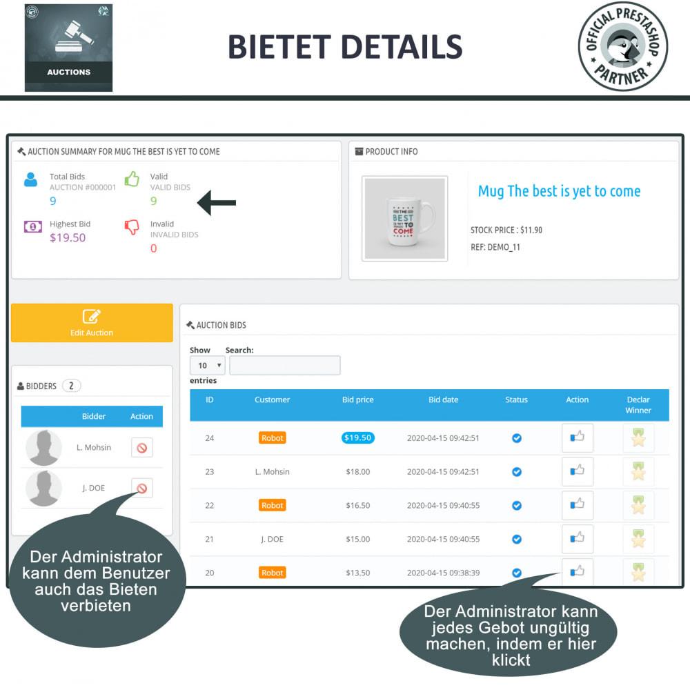 module - Auktionsseiten - Auktion Pro, Online-Auktions und Gebotsmanagement - 24
