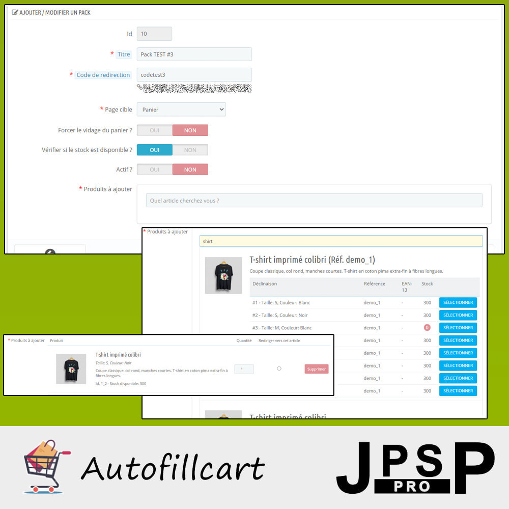 module - Inscripción y Proceso del pedido - Fill cart automatically - 3