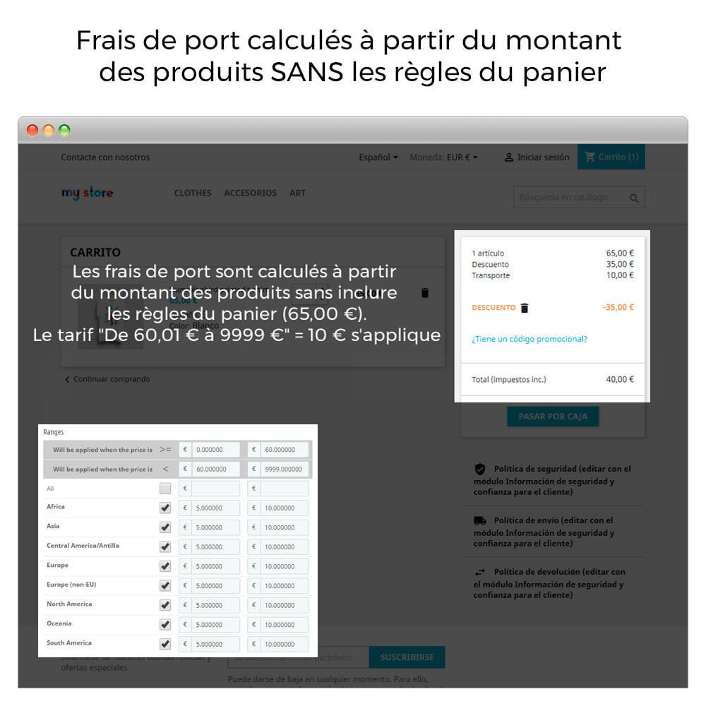 module - Frais de port - Frais d'expédition sans règles de panier d'achat/rabais - 2