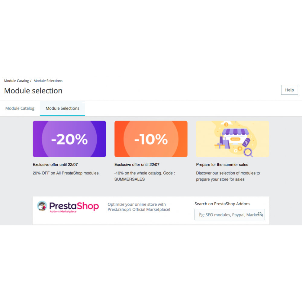 module - Administrative Tools - PrestaShop Marketplace in your Back Office - 3