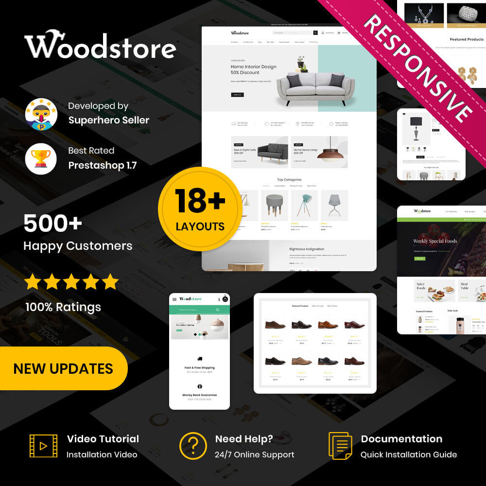 theme - Дом и сад - Wood - The Furniture Store - 1