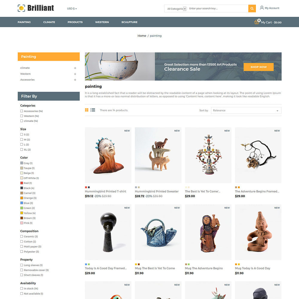 theme - Kunst & Cultuur - Brilliant Handcraft  Collection - Art Store - 3