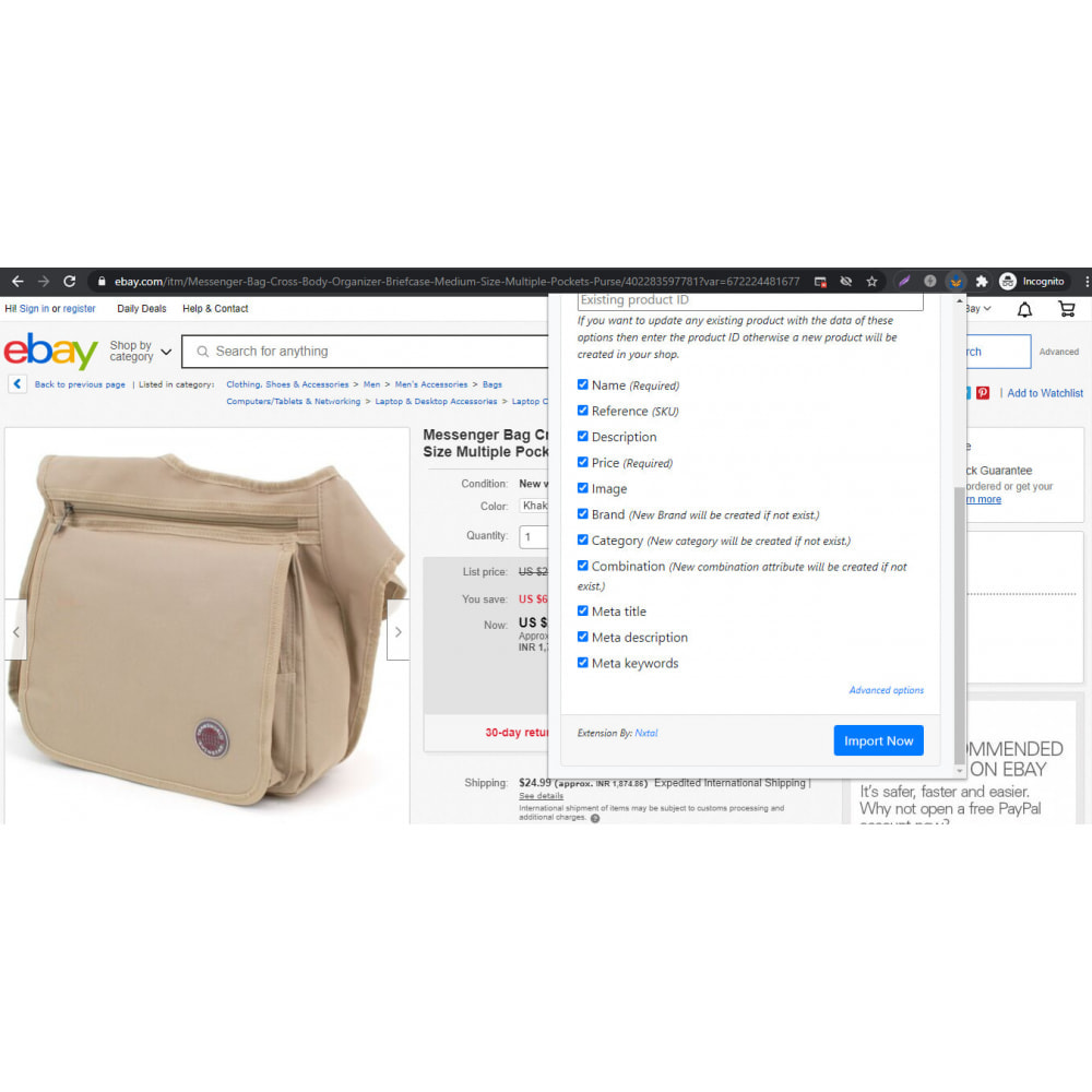 module - Importación y Exportación de datos - Advanced Ebay Product Importer & Affiliate - 3