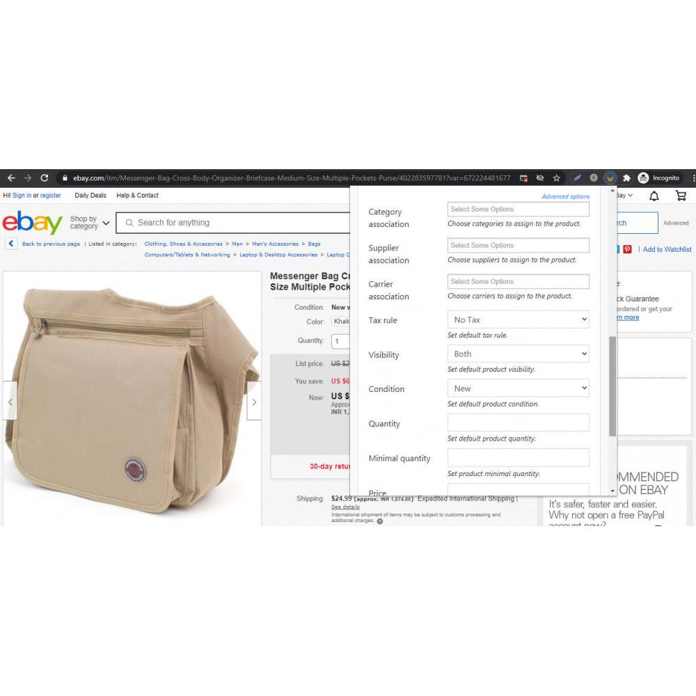 module - Importación y Exportación de datos - Advanced Ebay Product Importer & Affiliate - 4