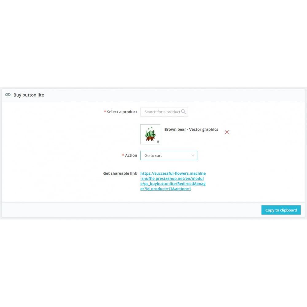 module - Produtos nas Facebook & Redes Sociais - Buy Button Lite - 1