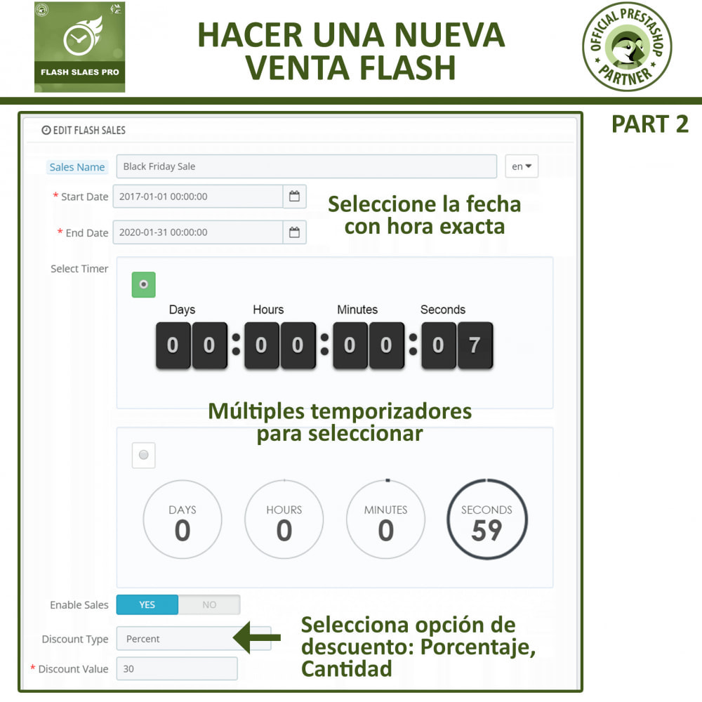 module - Ventas Privadas y Ventas Flash - Flash Sales Pro - Descuento con Cuenta Regresiva - 10