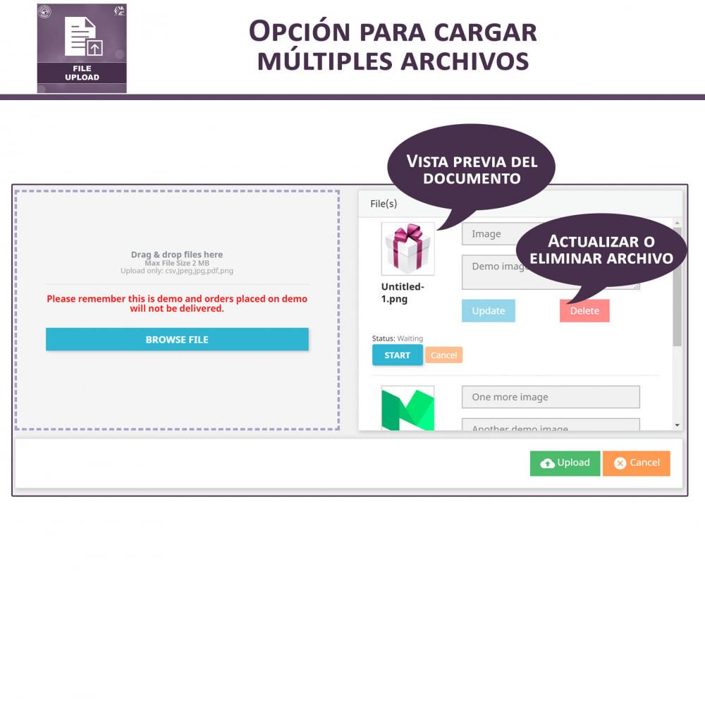 module - Informaciones adicionales y Pestañas - Carga de Archivos por Cliente - 3