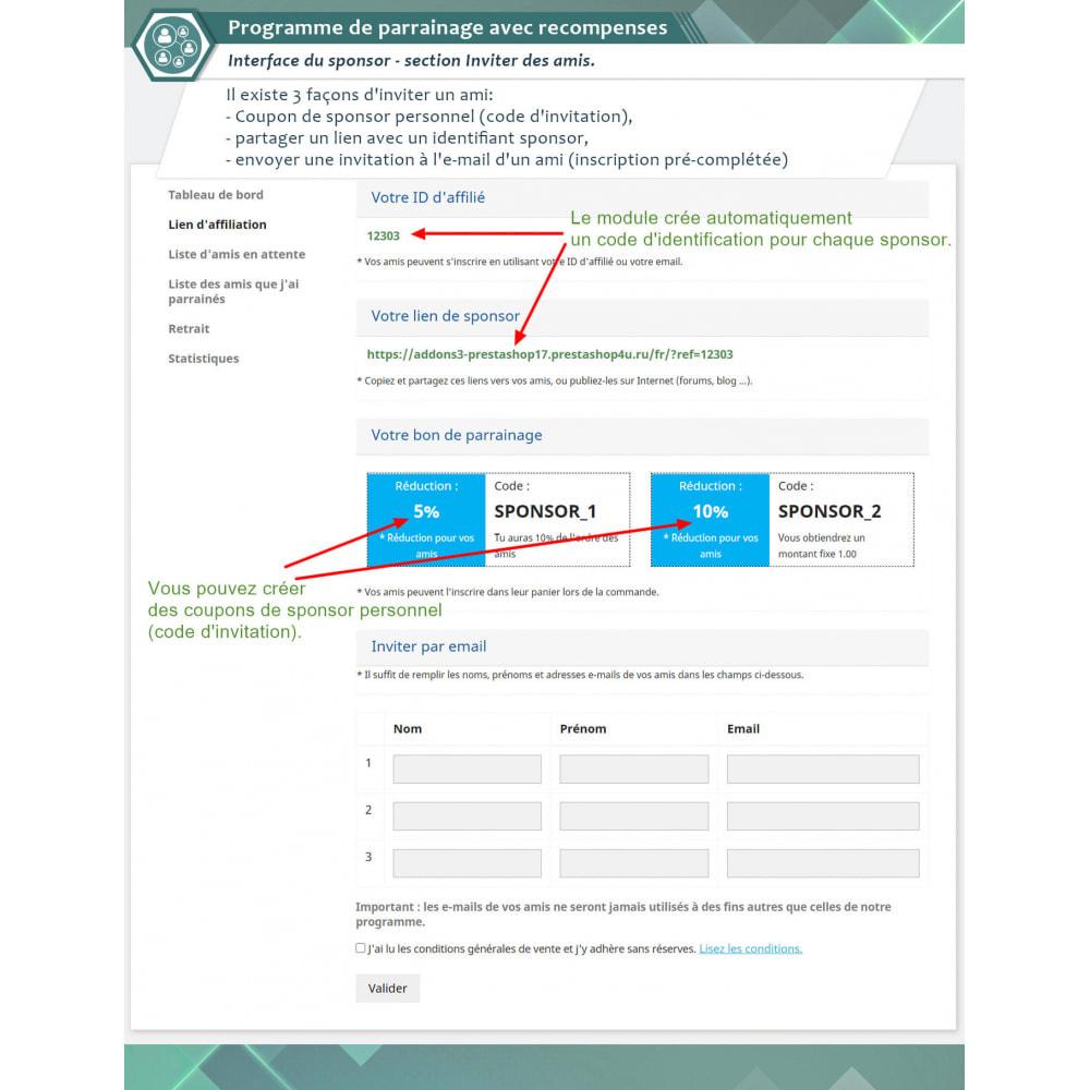 module - Fidélisation & Parrainage - Programme de parrainage avec recompenses - 2