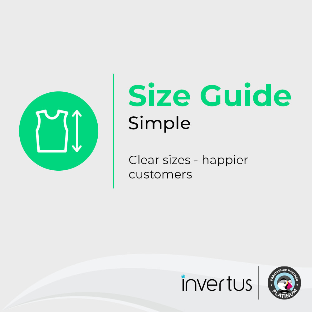 module - Tailles & Dimensions - Size Guide Simple - Product Size Chart - 1
