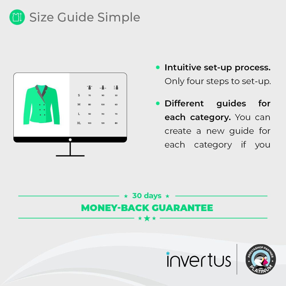module - Tailles & Dimensions - Size Guide Simple - Product Size Chart - 2