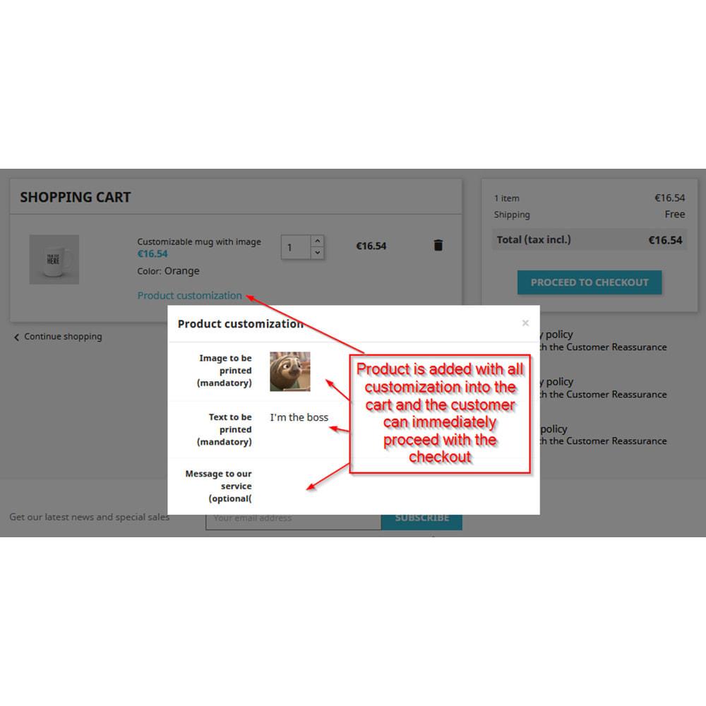 module - Combinations & Product Customization - Customization directly into cart - 3