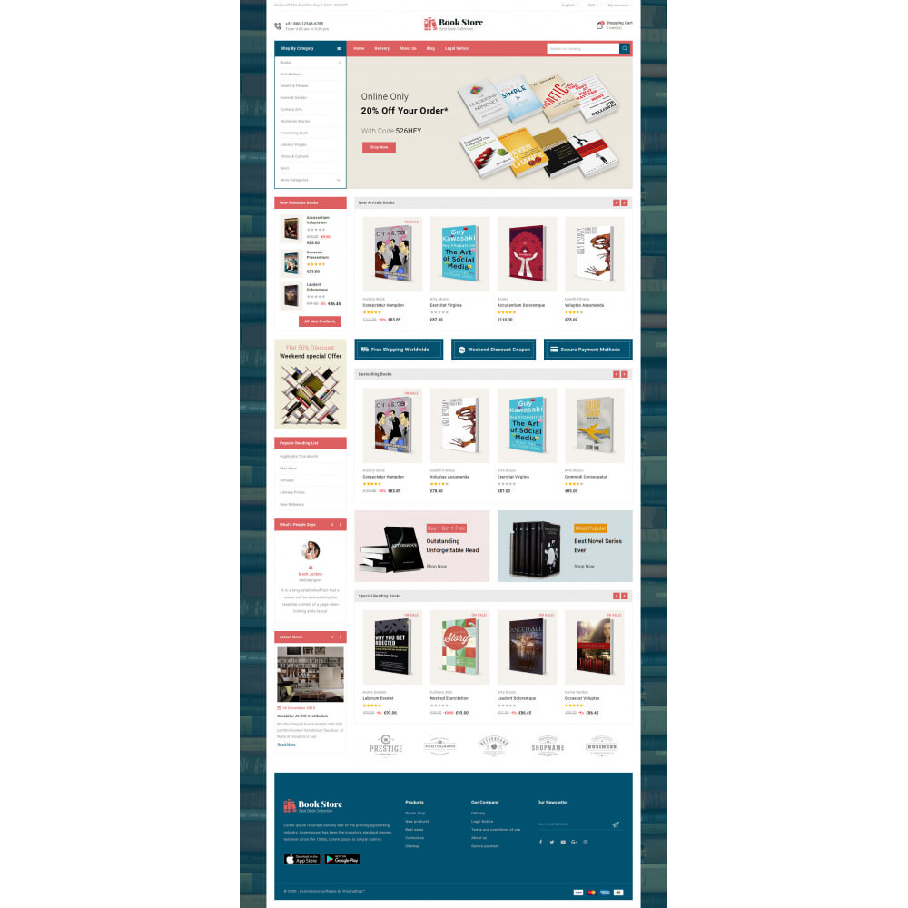 theme - Kultura & Sztuka - Online Book Store - 3