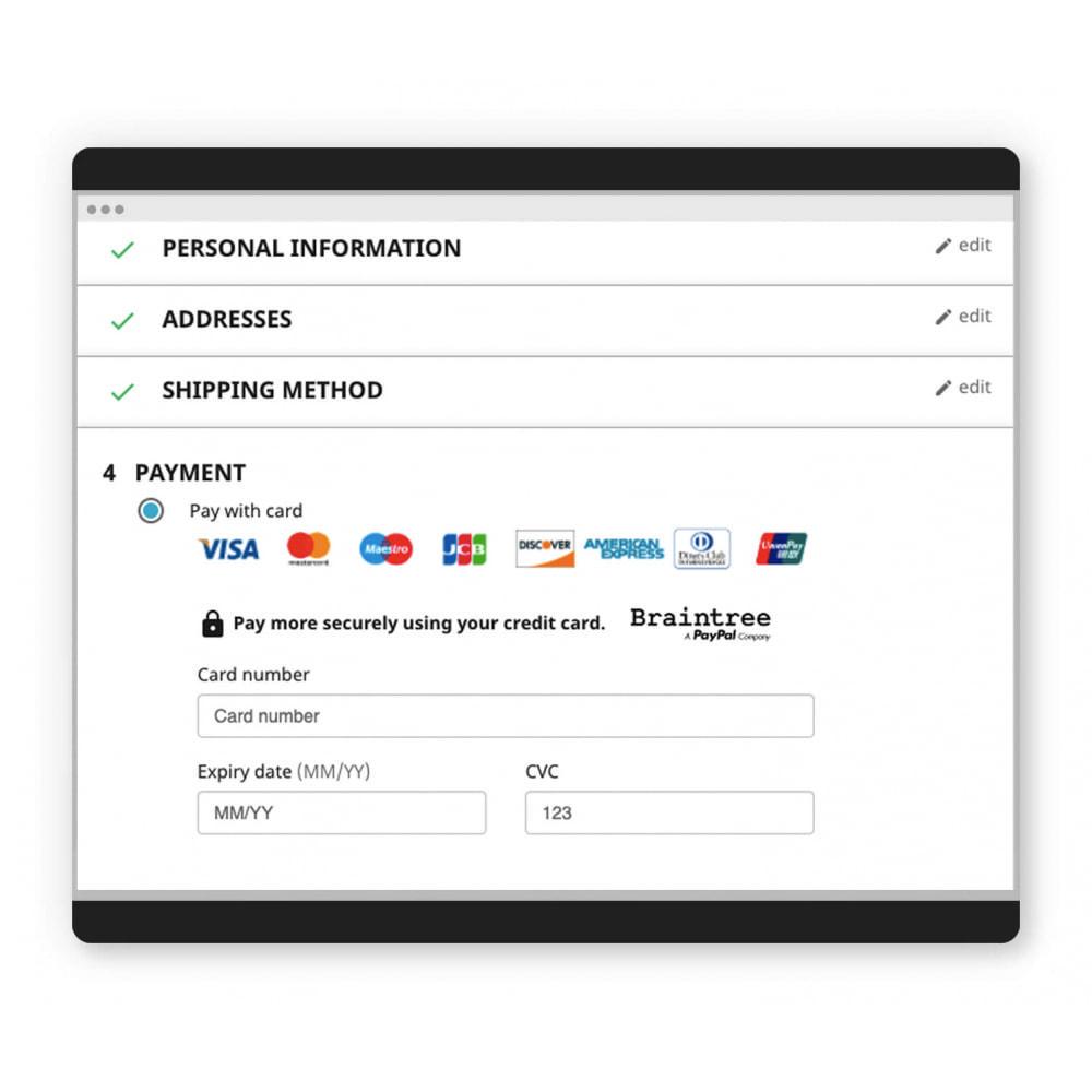 module - Paiement par Carte ou Wallet - Braintree Officiel - 2