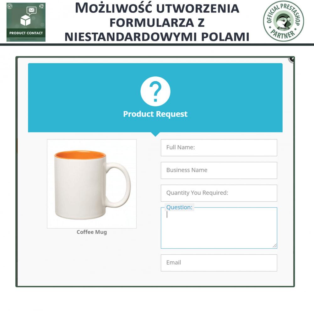 module - Formularz kontaktowy & Ankiety - Kontakt z Produktem - Formularz Zapytania - 4