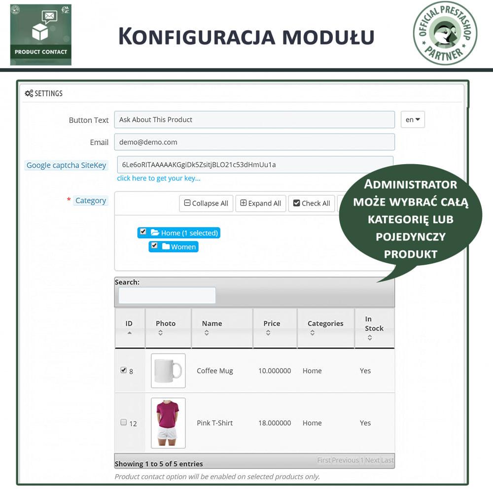 module - Formularz kontaktowy & Ankiety - Kontakt z Produktem - Formularz Zapytania - 5