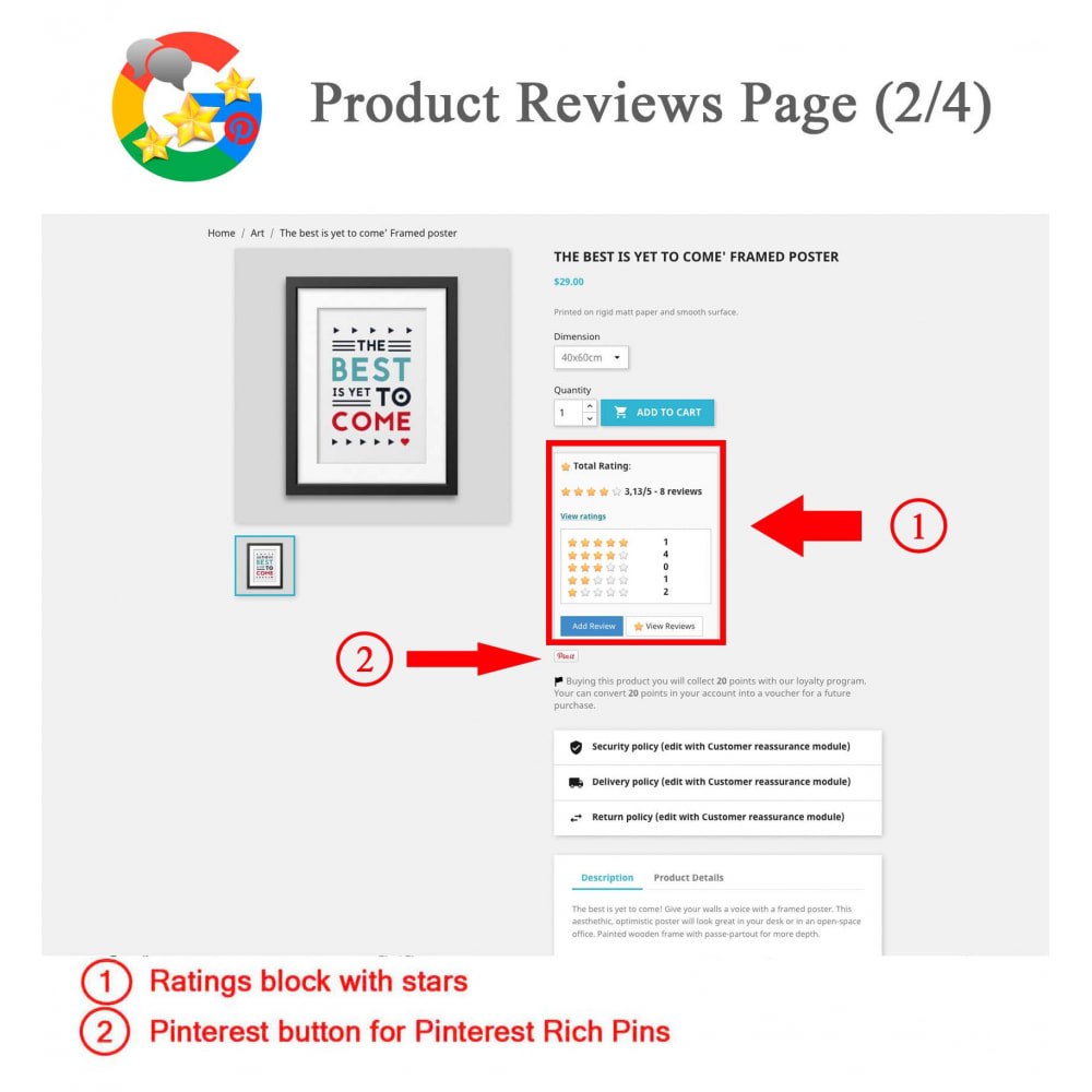 module - Klantbeoordelingen - Product, Shop Reviews, Loyalty Program, Google Snippets - 3