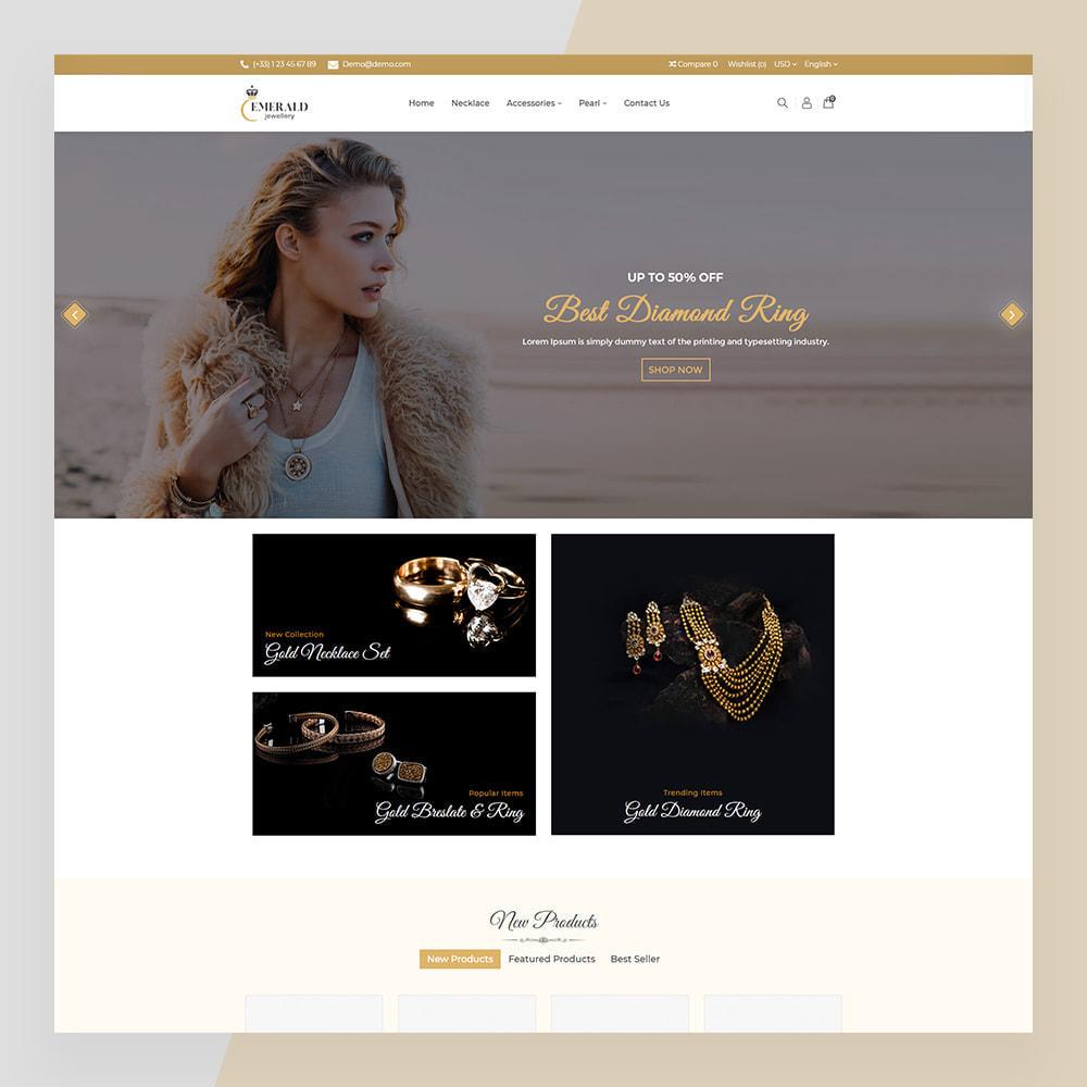theme - Ювелирные изделия и Аксессуары - Emerald Jewelry - Jewellery & Accessories Template - 2