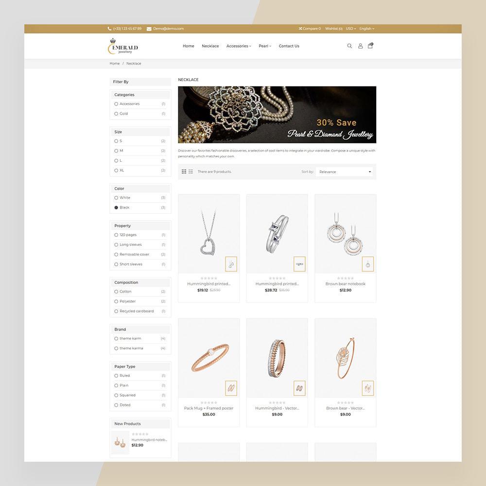 theme - Ювелирные изделия и Аксессуары - Emerald Jewelry - Jewellery & Accessories Template - 9