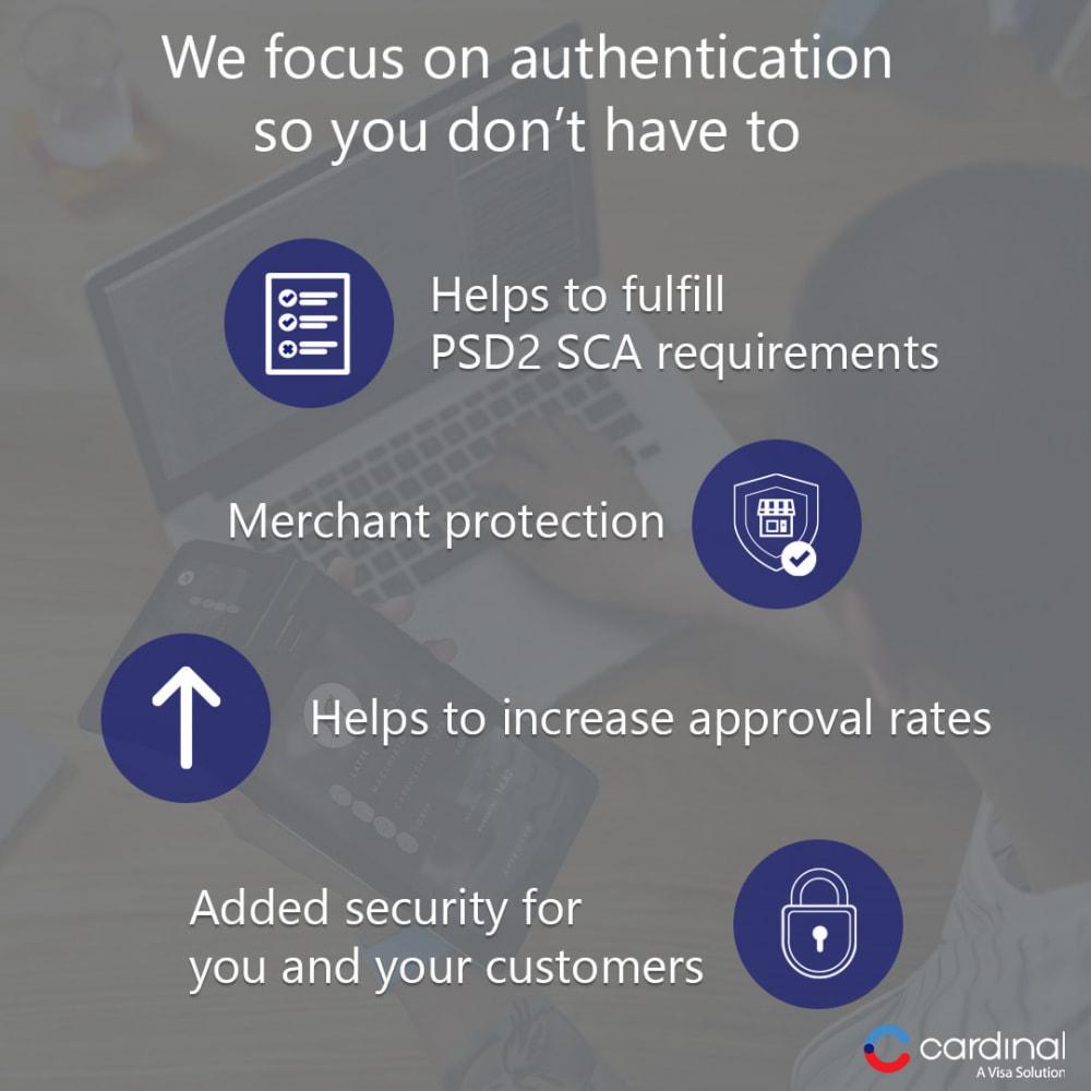 module - Płatność kartą lub Płatność Wallet - 3-D Secure Payment Gateway by Cardinal, a Visa solution - 3