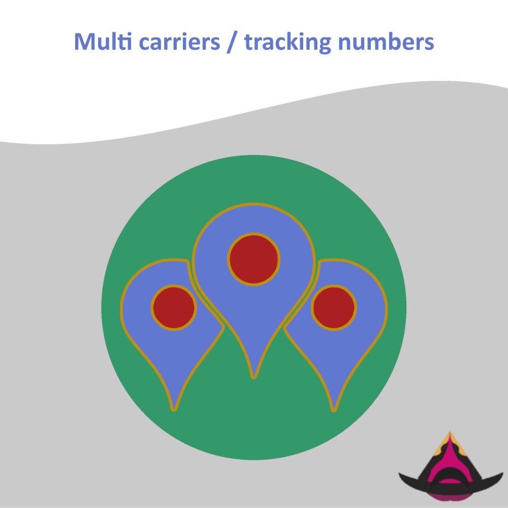 module - Sendungsverfolgung - Multi carriers / tracking numbers - 1