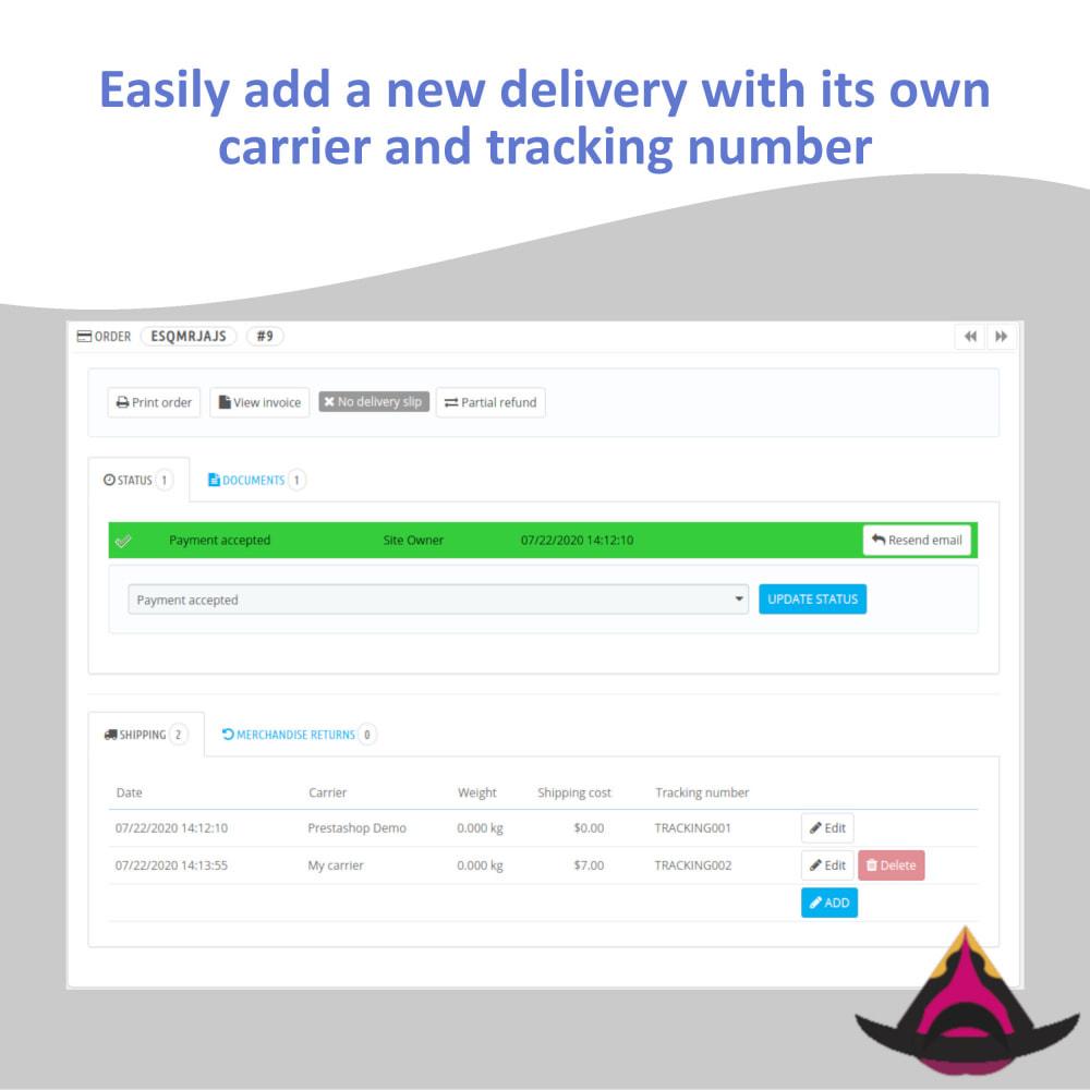 module - Sendungsverfolgung - Multi carriers / tracking numbers - 2