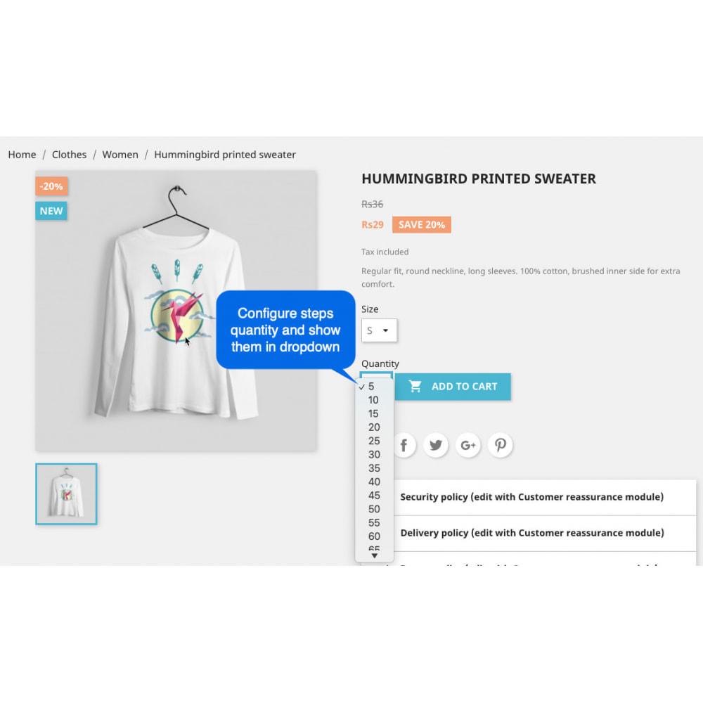 module - Dodatkowe informacje & Zakładka produktu - Advanced Product Quantity - 3