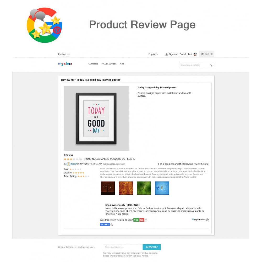 module - Klantbeoordelingen - Product, Shop Reviews, Loyalty Program, Google Snippets - 12