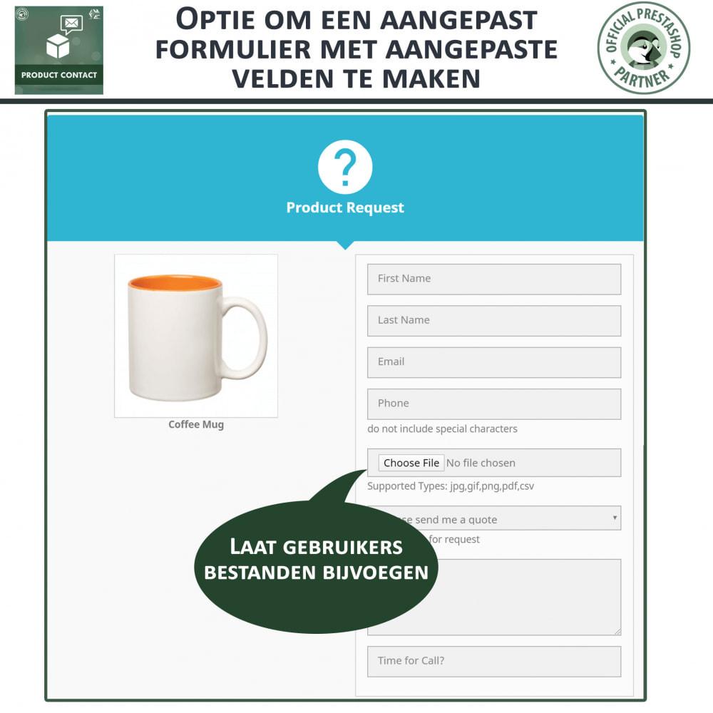 module - Contactformulier & Enquêtes - Product Contact - onderzoek Formulier - 4