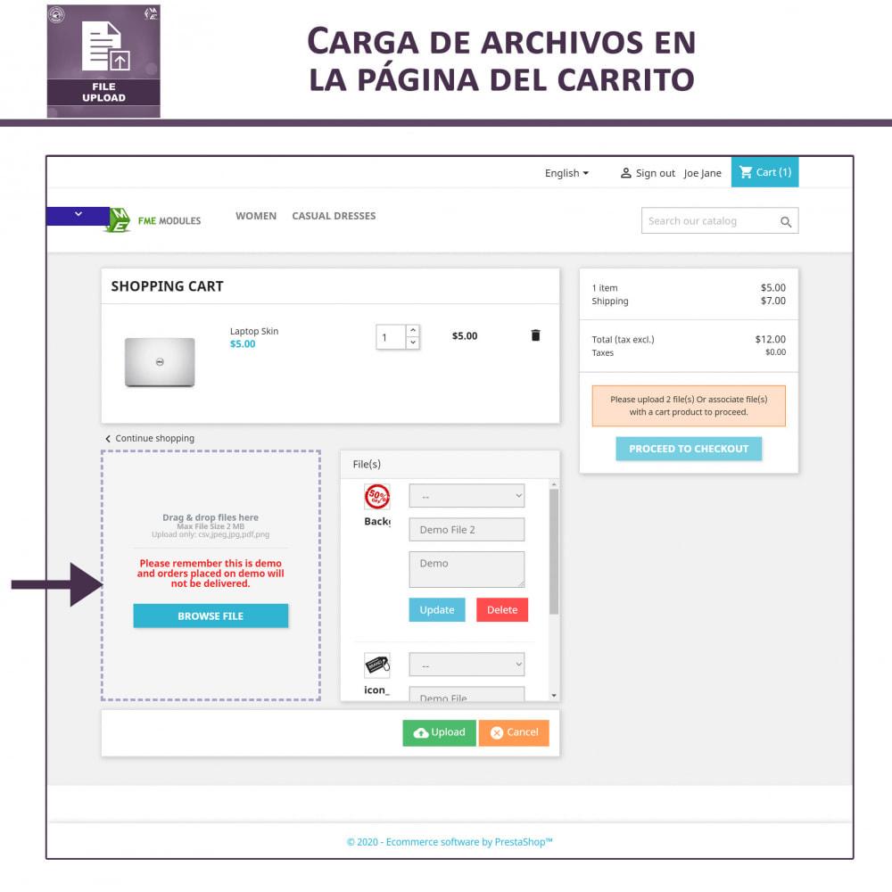 module - Informaciones adicionales y Pestañas - Carga de Archivos por Cliente - 4
