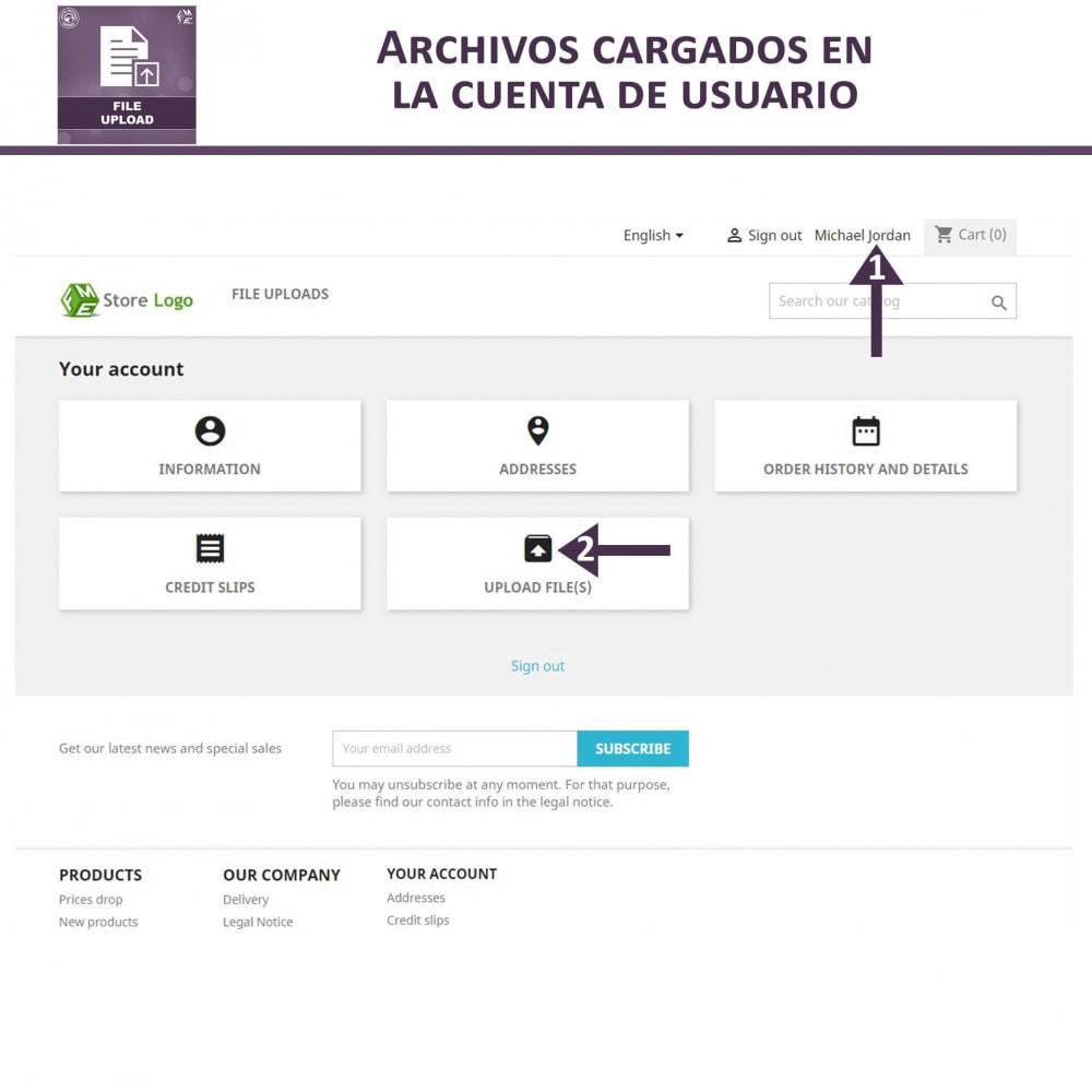 module - Informaciones adicionales y Pestañas - Carga de Archivos por Cliente - 6