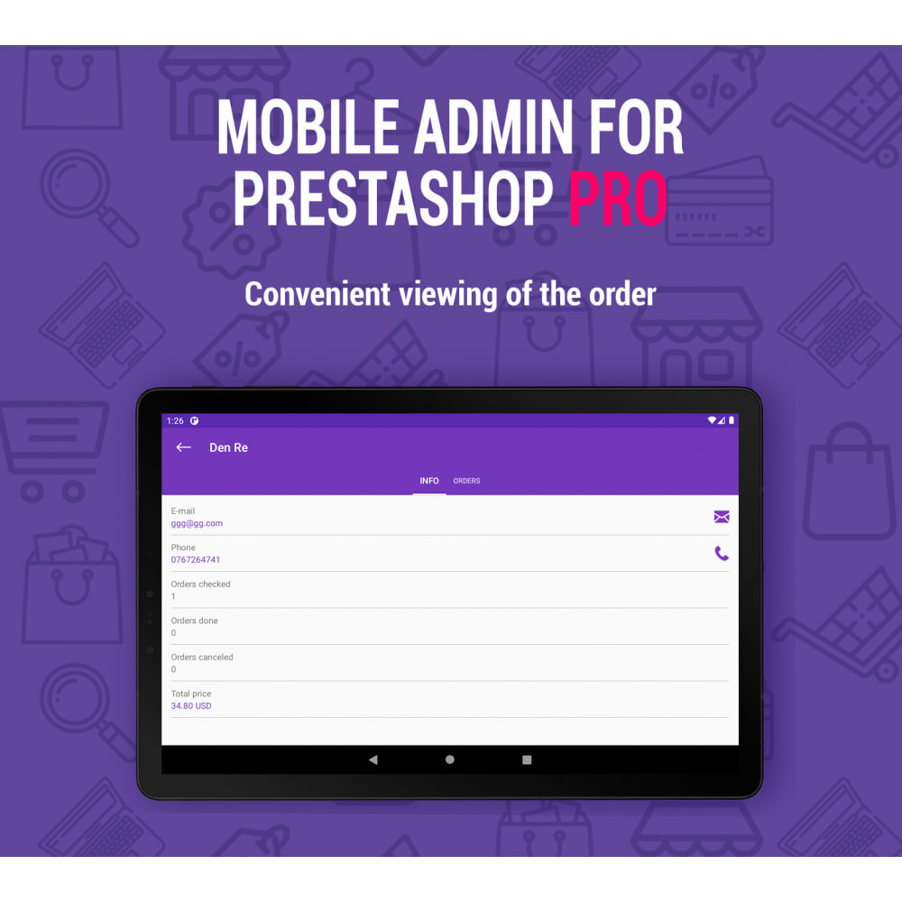 module - Mobiele apparaten - Mobile Admin for unlimited managers, sites iOs&Android - 1