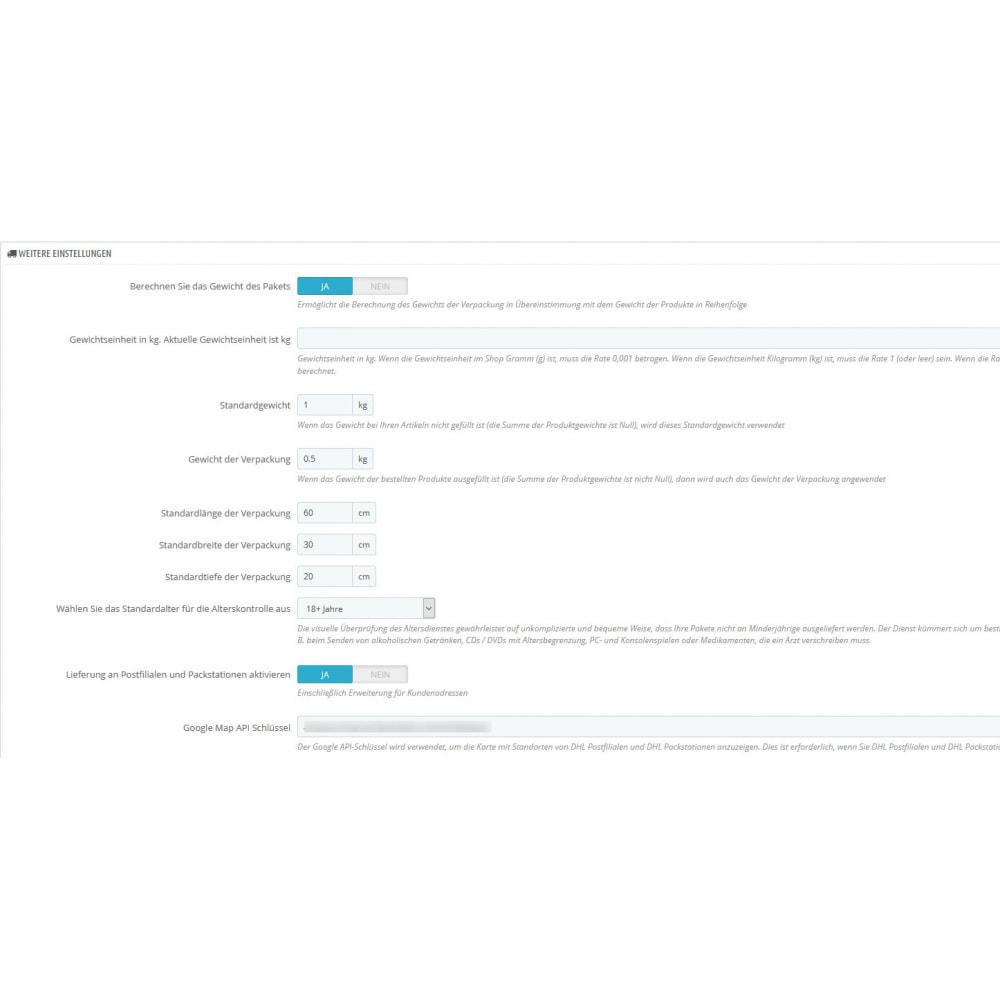 module - Versanddienstleister - DHL Geschäftskundenportal - 2